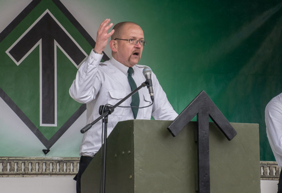 Riksmedlem och lokalpolitiker Pär Öberg talar i Ludvika 1:a maj 2018