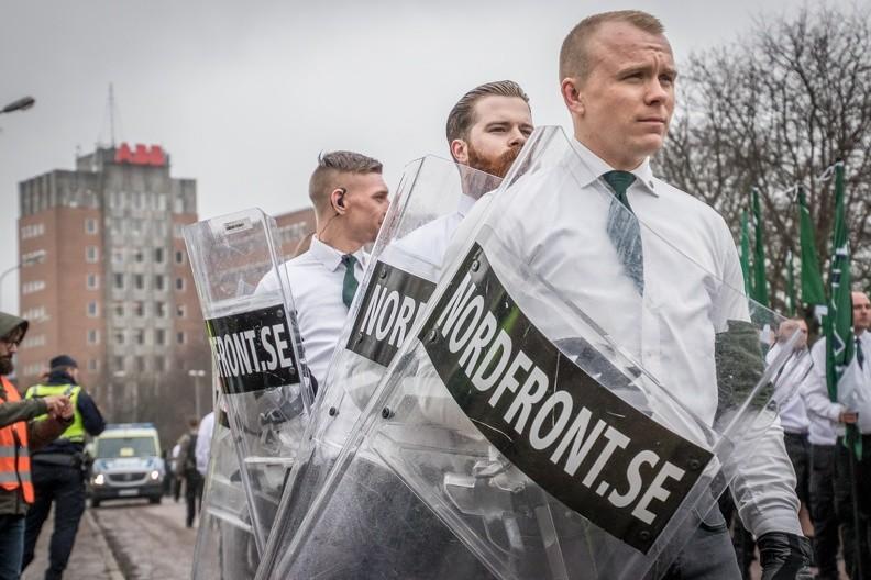 Aktivister i Ludvika 1:a maj 2018