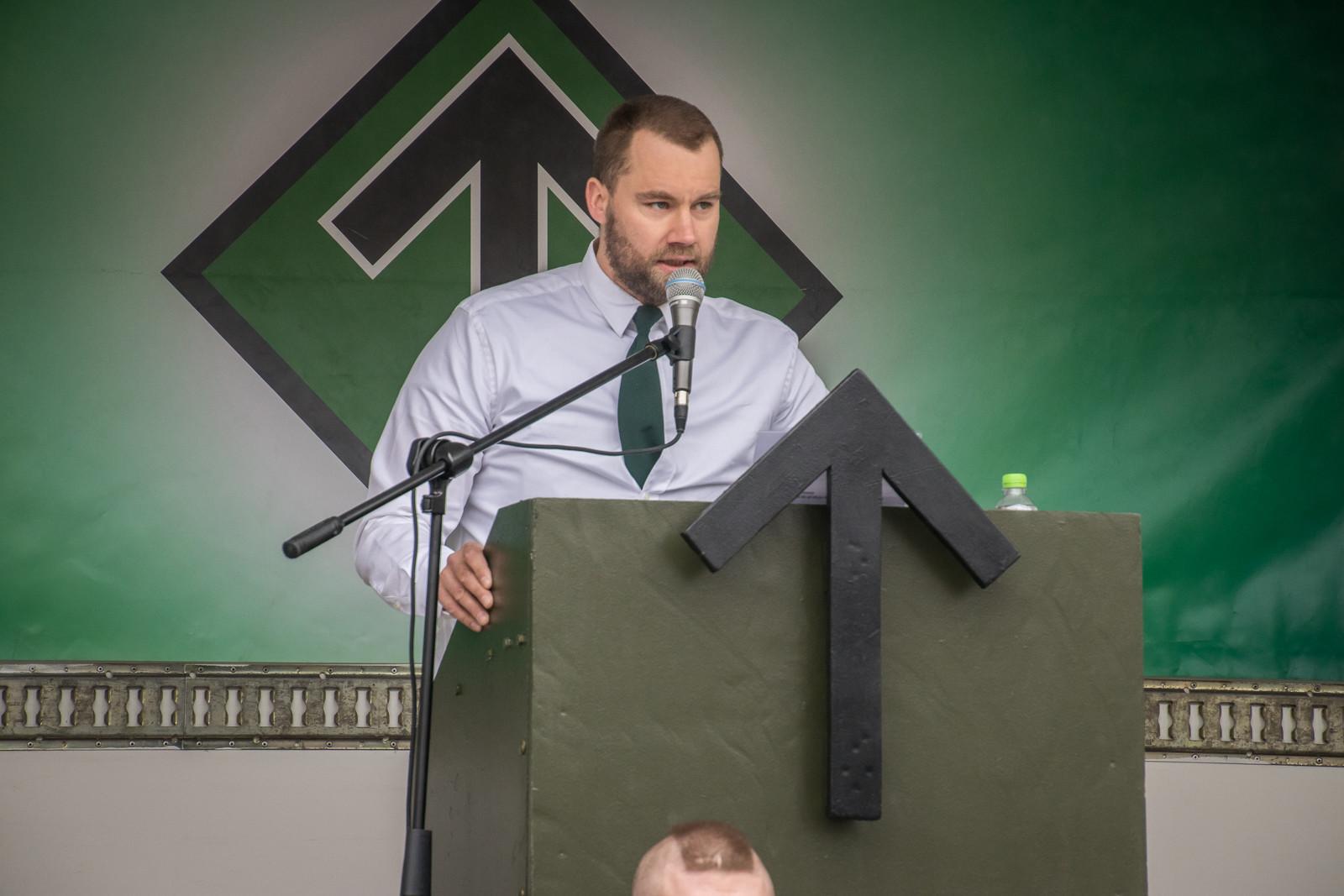 Nästeschef Pär Sjögren talar i Ludvika på 1:a maj 2018
